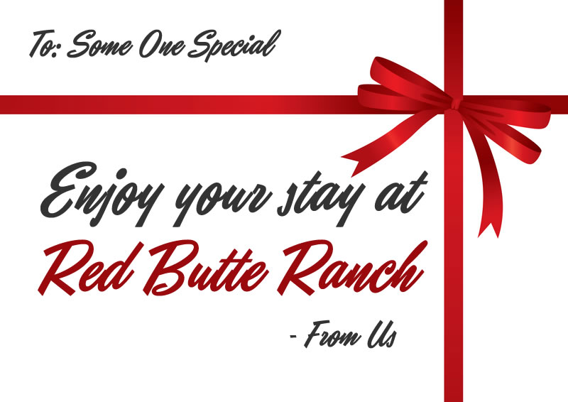 red butte ranch gift certificates