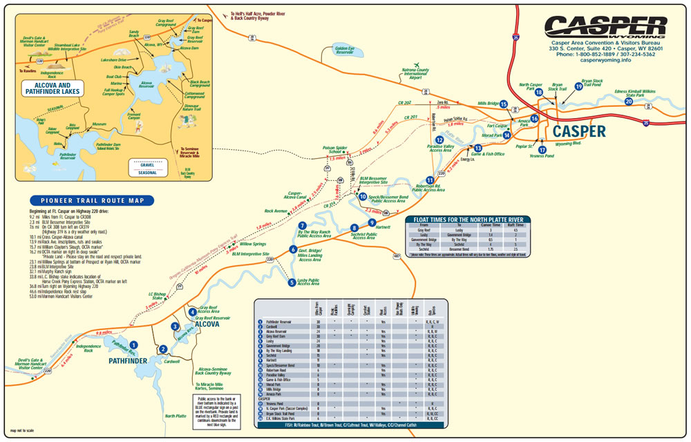north platte river map casper wyoming