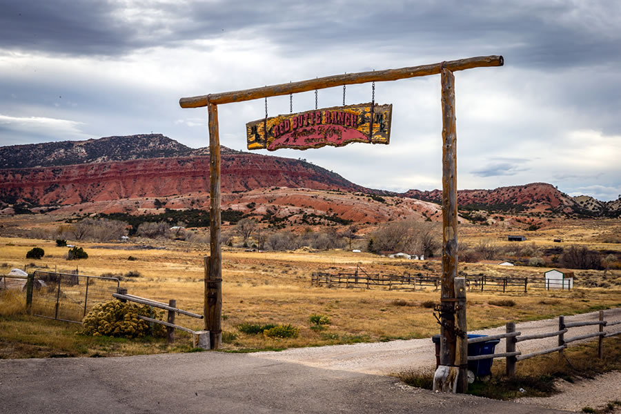 Red Butte Ranch entrance gate